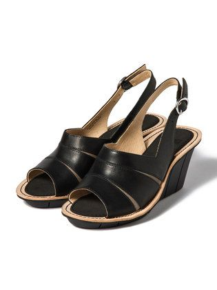 CAMPER - FILIPPA LOW open toe wedge sandals