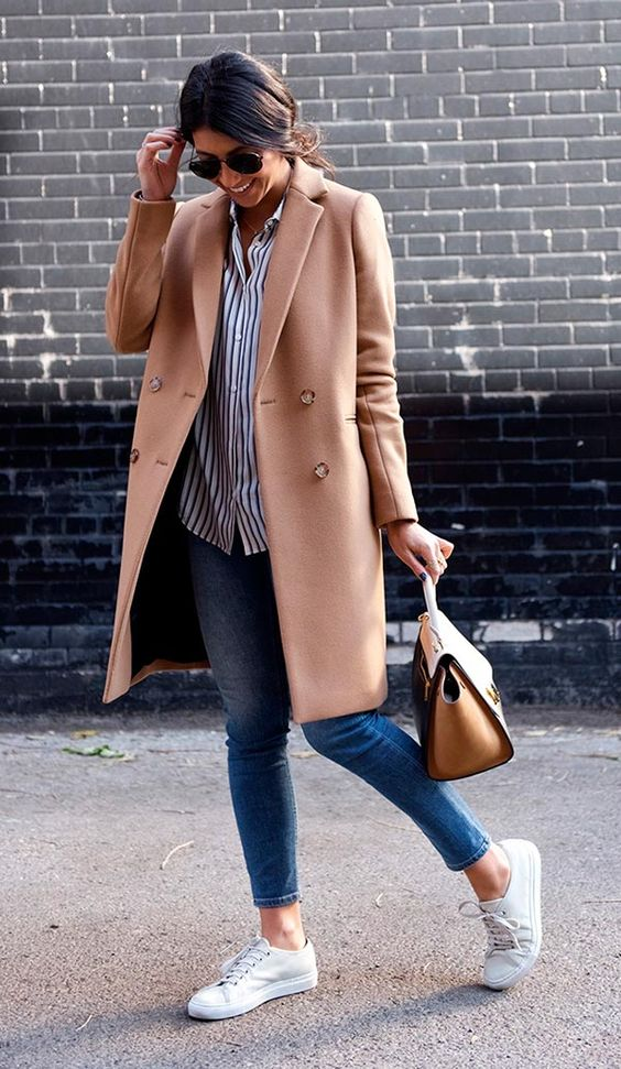 Street style look com calça skinny.:
