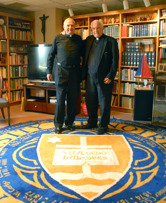 Father Dave & Father Ted Hesburgh  Go Irish! Be sure to visit and LIKE our Facebook page at https://www.facebook.com/HereComestheIrish