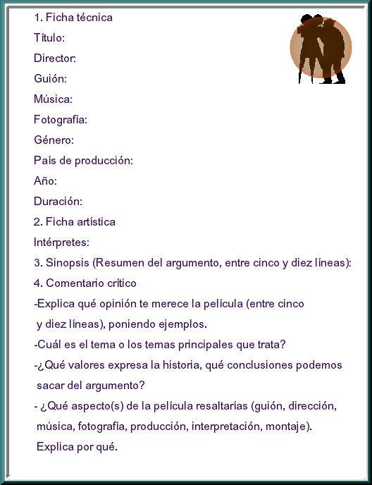 Cuaderno De Rodaje Modelo De Reseña De Una Película Verbos En Espanol Peliculas Lengua Y Literatura