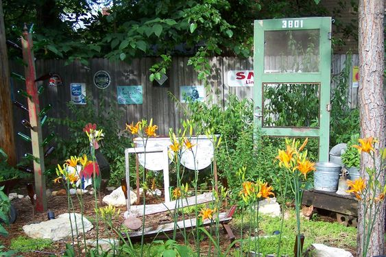 The junk garden trash to treasure