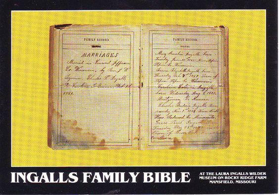 Ingalls Family Bible