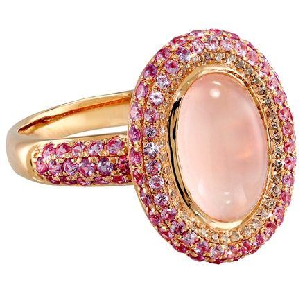 VIDA Rose Quartz and Pink Sapphire Ring: