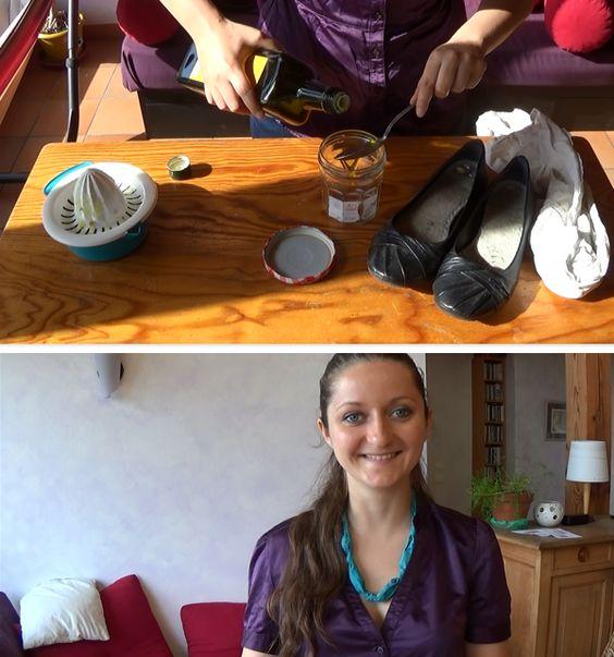 comment-faire-du-cirage Comment faire du cirage à chaussures en cuir foncé? Il vous faut : – 2 cuillères à soupe d'huile d'olive – 1 cuillère à soupe de citron – 2 chiffons récup' – un bocal refermable récup' Mettez le citron et l'huile d'olive dans le bocal, refermez-le et secouez-le énergiquement. Trempez un chiffon dans la solution, essorez un peu puis cirez vos chaussures avec. Avec le deuxième chiffon, enlevez le surplus et faites bien briller !
