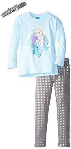 Disney Little Girls' Frozen Aqua Tunic Legging Set