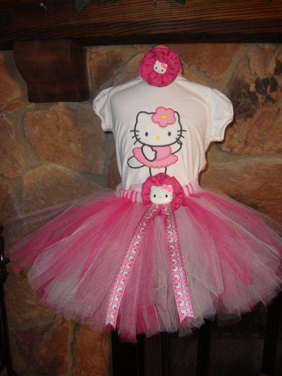 Ballerina  Kitty  TUTU set by Nannasinspirations on Etsy, $40.00