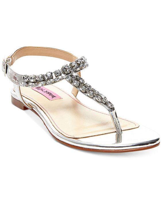 Betsey Johnson Sulivann T-Strap Evening Sandals