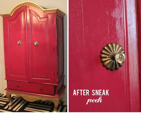 armoire After painted in Behr's (Disney collection of paint) Pooh's kite