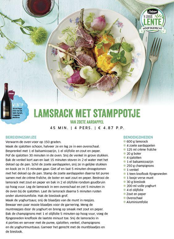 Lamsrack met stamppotje van zoete aardappel - Lidl Nederland