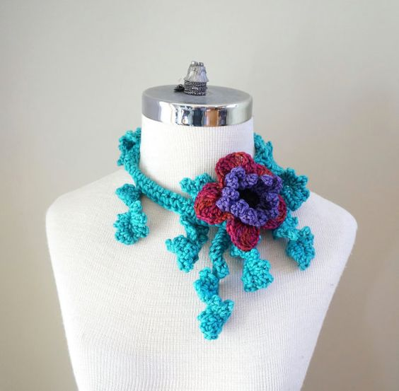 Floral  Scarf Floral Frieze Accent Scarf by ValerieBaberDesigns