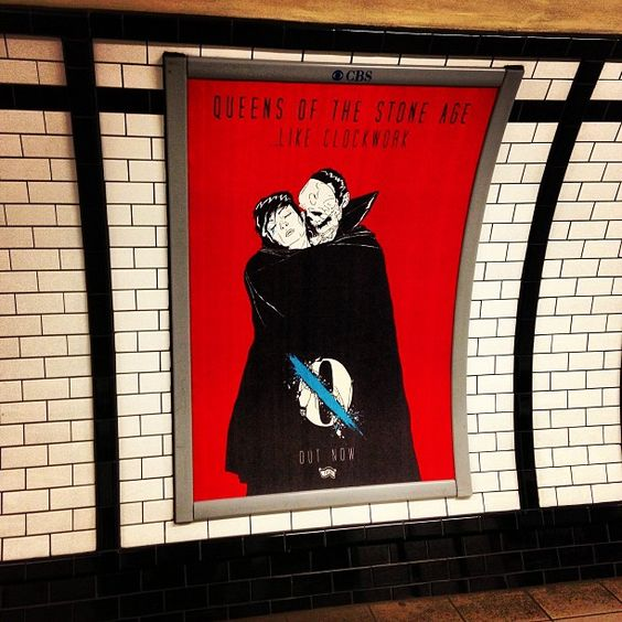 #qotsa #likeclockwork #camdentown #poster (at Camden Town London Underground Station)
