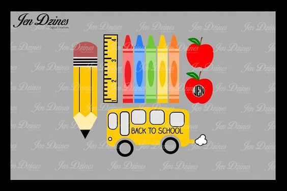 School Bundle SVG DXF EPS PNG from DesignBundles.net