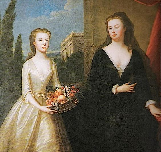 ca. 1722 Duchess of Marlboro with Lady Diana Spencer by Maria Verelst (location unknown to gogm)
