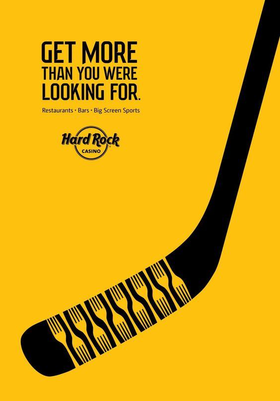 Hard Rock Casino: Hockey #Print Ads #publicidad gráfica. Entre en el fantástico mundo de elcafeatomico.com para descubrir muchas más cosas! #advertising