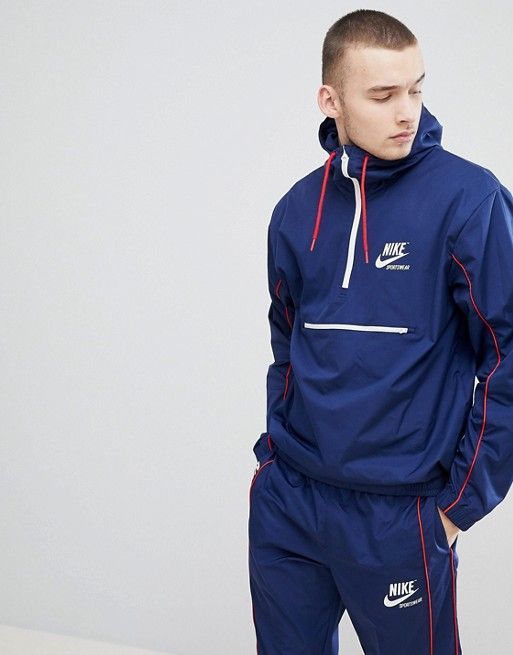 Nike Archive Woven Tracksuit in Navy | Mens navy jacket