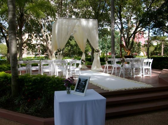 Disney world swan hotel wedding ceremony at the crescent for Most beautiful wedding venues in the world