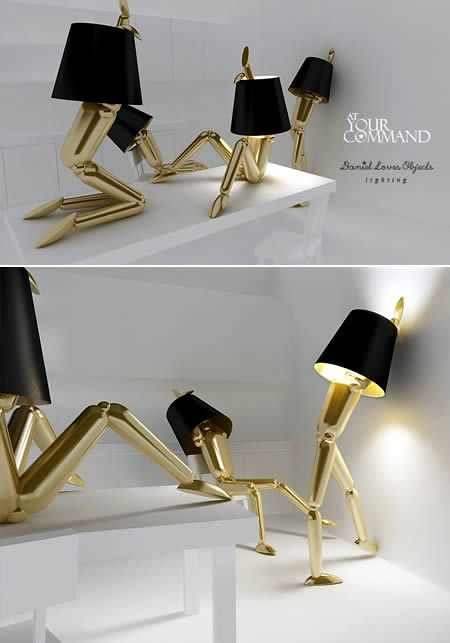 15 Strangest Lamps - Oddee.com (drop light, cool lamps): Daniel Loves, Lamp Design, Human Lamp, Lighting Design, Light Design, Lamps Lighting, Cool Lamps, Loves Objects