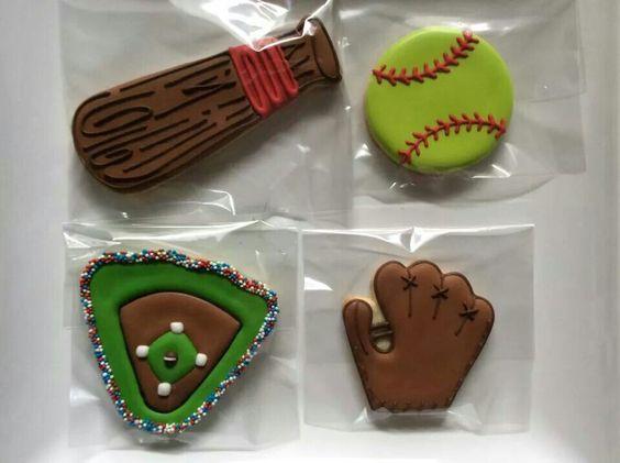 Baseball cookies by Kelly Keene Watts