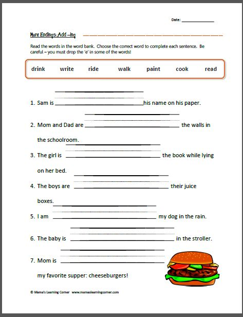 Inflectional Endings Worksheets | Inflected Ending Ed And Ing ...