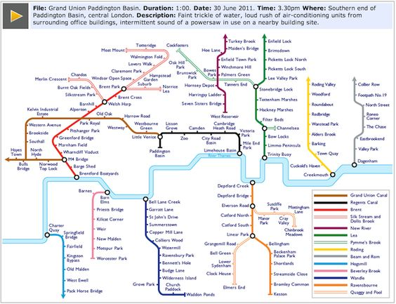 Sound map of London rivers