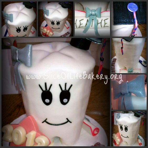 Tooth Graduation Cake