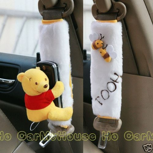 Winnie-the-Pooh-Napole-Car-Seat-Belt-Seatbelt-Cover