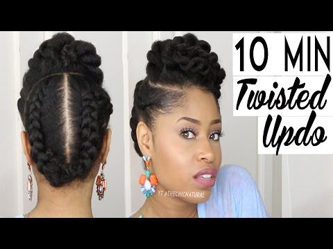 4 Flawless Natural Hair Styles That Can Be Done in 10 Minutes or Less   Black Girl with Long Hair