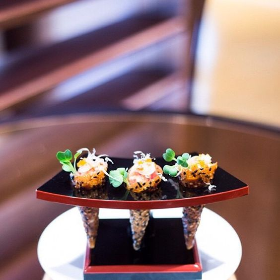 Great choice! #repost from @45parklane - Starting off the weekend with sumptuous sliders...mini spicy tuna tartar cones!  #45parklane #DCmoments #WolfgangPuck