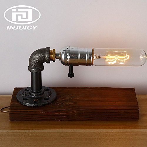 Pipe Table Lamp Vintage Industrial Steampunk Style Iron Desk Light E27
