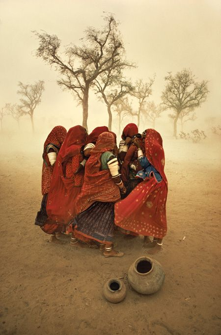 Dust storm, Rajasthan, India, by Steve McCurry