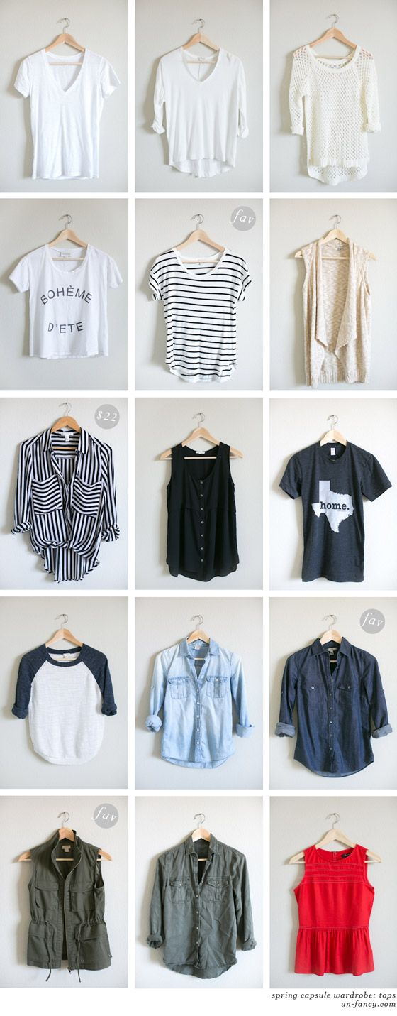 Spring Capsule Wardrobe: Capsule Wardrobe, Wardrobes And Spring On Pinterest