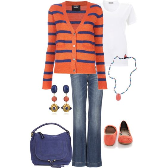 coral and blue, created by torinetzer.polyvore.com