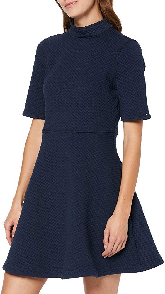 Tommy Jeans Damen Knit Dress Kurzarm A Linie Kleid Kleider Bekleidung Damen Geschenkideen Moda Fashions Tre Kleider Damen Kleider Fur Frauen Strickkleid