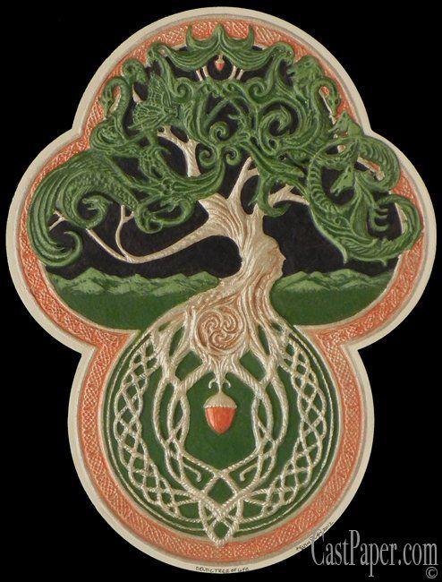 Druids Trees:  The Celtic Tree of Life.: