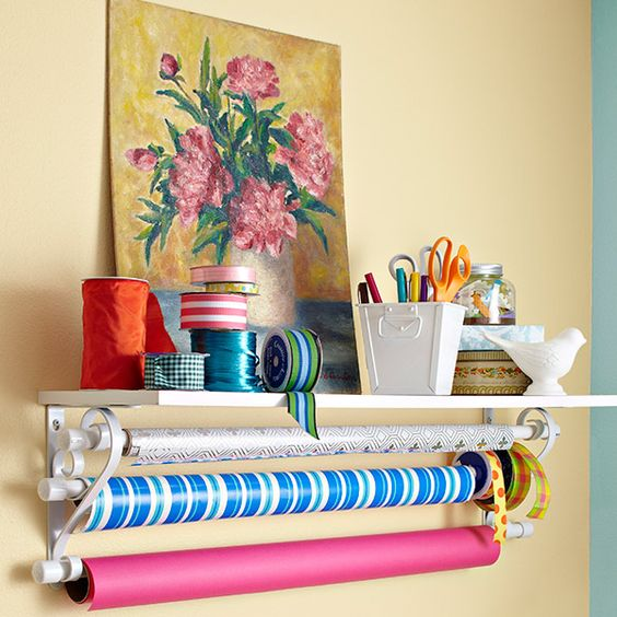 Easy to put together and easy to access, this wrapping shelf truly is a gift that keeps on giving.