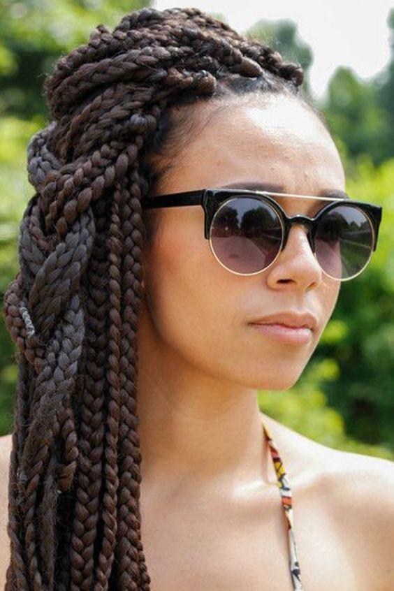 Tranças, preparar e ativar: temos 50 ideias para turbinar suas box braids: