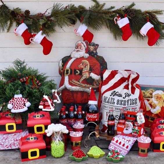 Vintage Santa Party Ideas + helping others this Christmas.  #LayerOnLove #ad