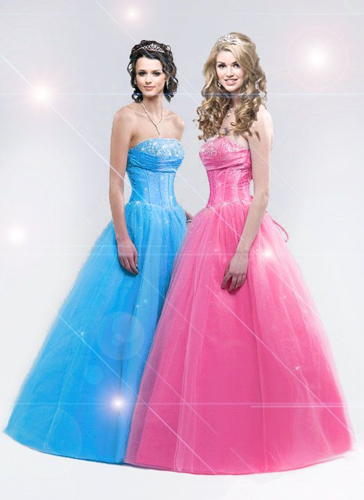 prom  blue and pink pink prom dresses MAtching prom dress with ...