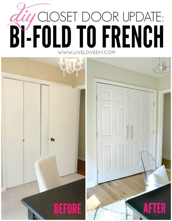 DIY Closet Door Update: How to update your old bi-fold doors to ...