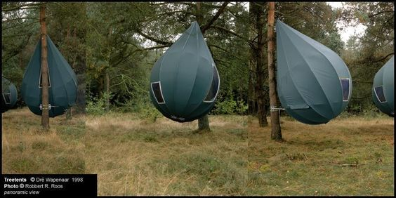 Looking for c&ing with luxury nature and beauty in mind these hanging tree tents shaped like dew-drops are just right for you! & Découverte : le cabinet de design néerlandais Dre Wapenaar et leur ...