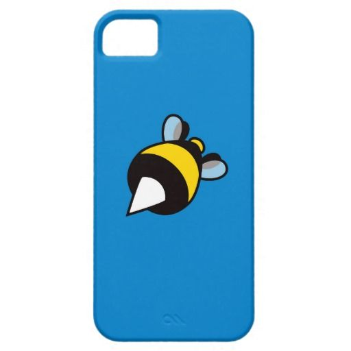 Blue Cool Cartoon Bee iPhone 5 Covers $42.95