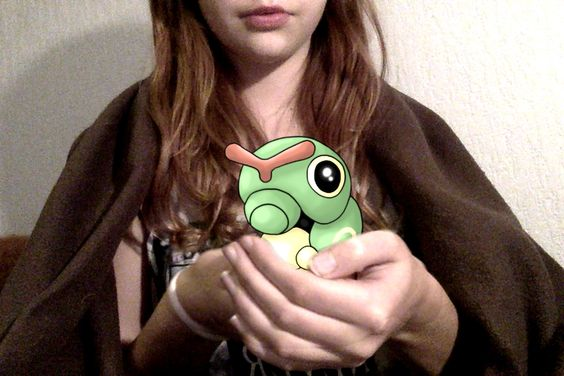 I just caught my first Caterpie!