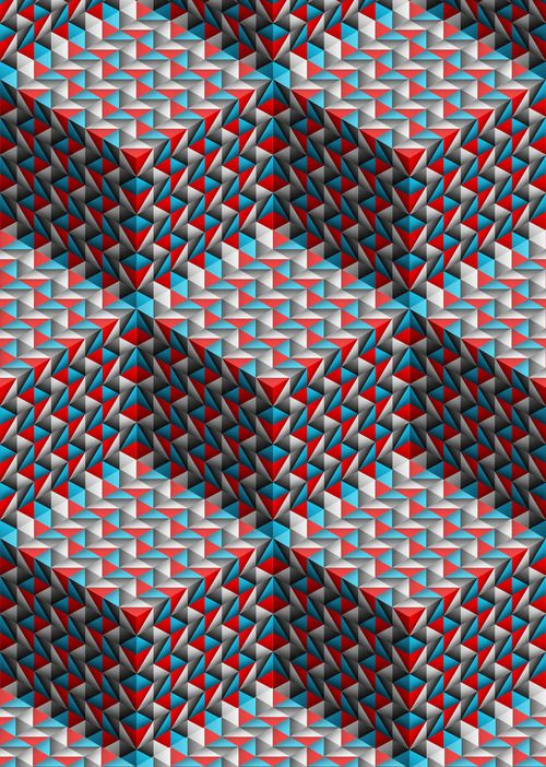 Optical art optical illusions pinterest for Effet d optique 3d