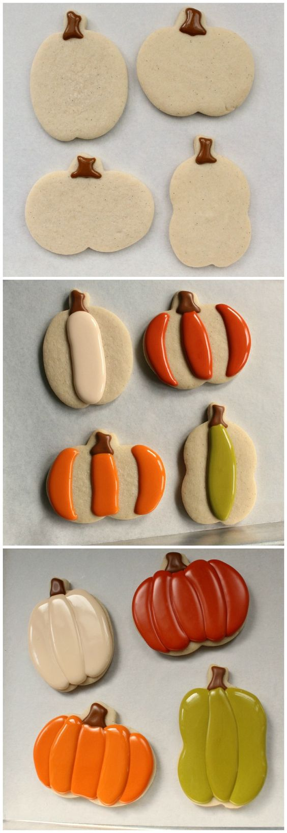 Pumpkin Cookie How-To. Even with this how-to, I won't master a great looking cookie like these.