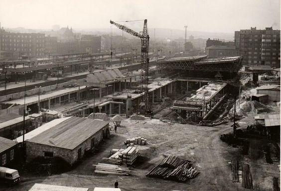 budowa dworca k-ce 1968-69