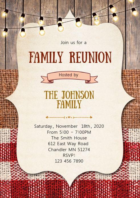 Bbq Family Reunion Party Invitation Family Reunion Invitations Templates Family Reunion Family Reunion Invitations