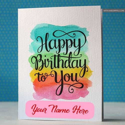 Birthday Greeting Card With Name Wishes Pictures Sent Birthday