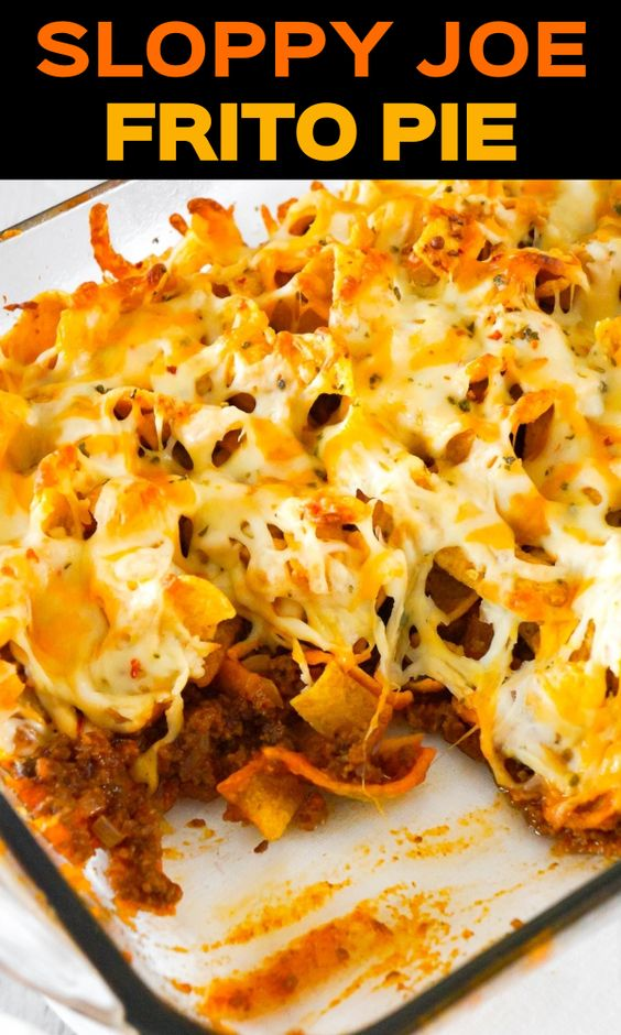 Sloppy Joe Frito Pie