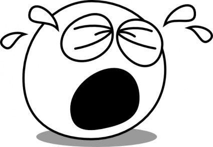 clipart smiley face black and white cry - Google Search: