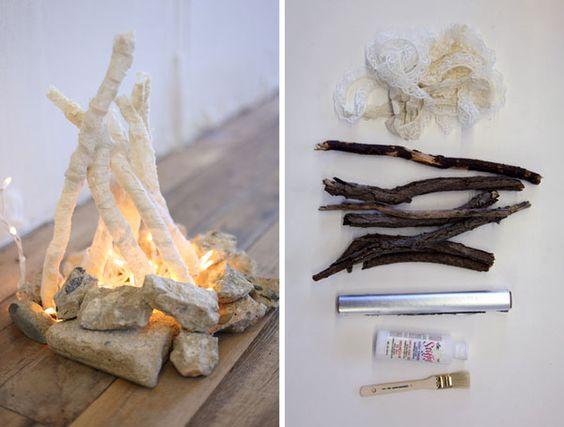 Vámonos de excursión con este fuego de mentirijillas. Tutorial de Free People Blog